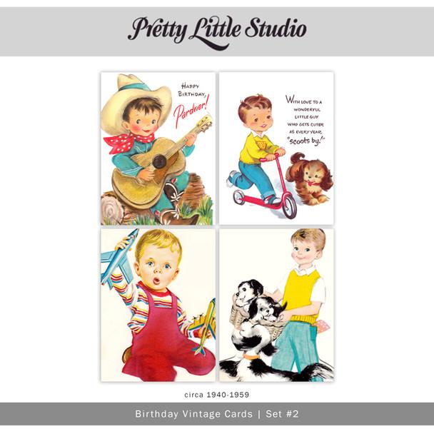 Printable | Birthday #2 Vtg Cards