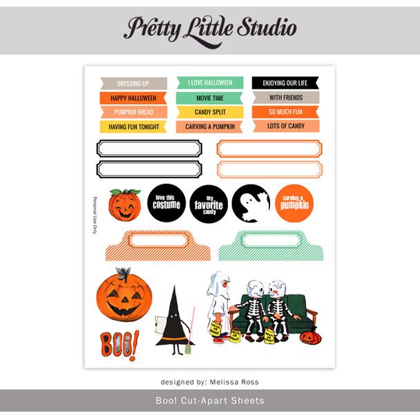 Printable |  Boo! Cut-Aparts