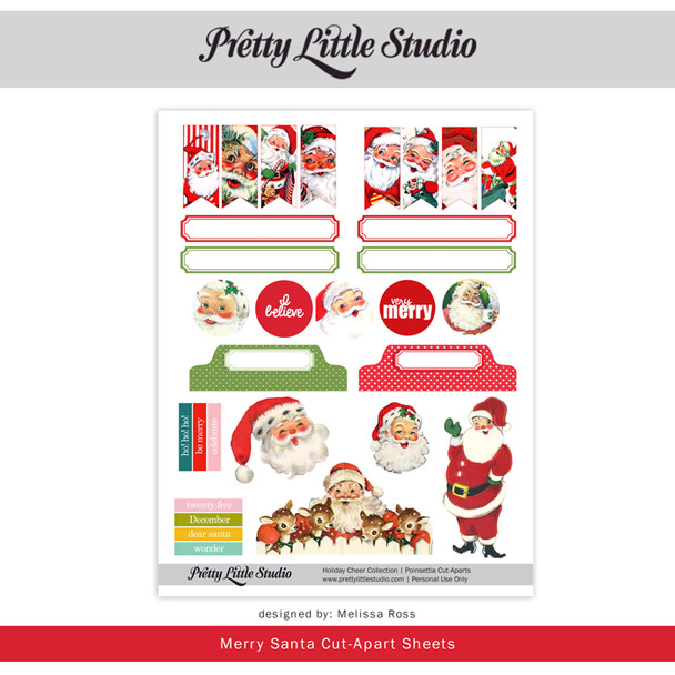 Printable |  Merry Santa Cut-Aparts