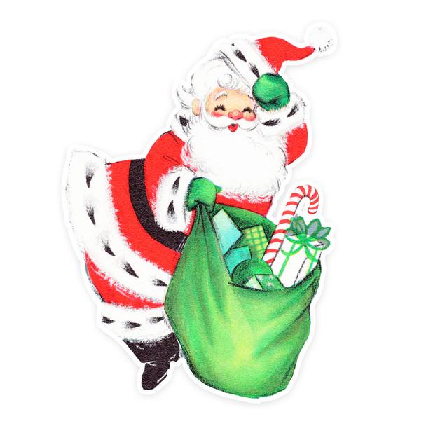 Vintage Die-Cut   Santa #21