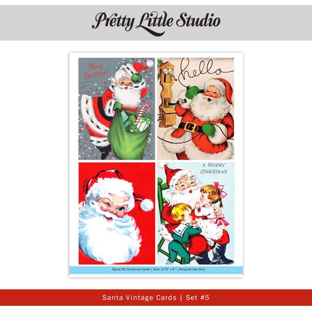 Printable   Santa #5 Vtg Cards