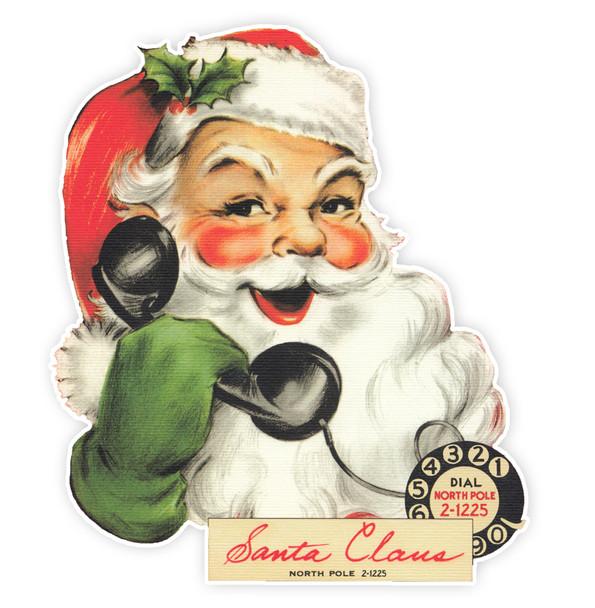 """Vintage Die-Cut   Santa #25   4"""""""