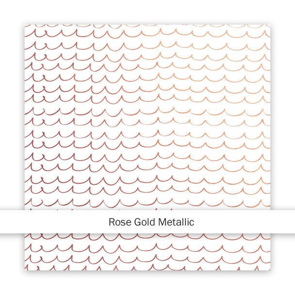 Metallic Clear | As Free as the Ocean | Rose Gold