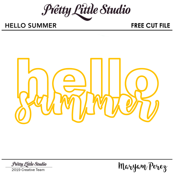FREE Cut File | Hello Summer