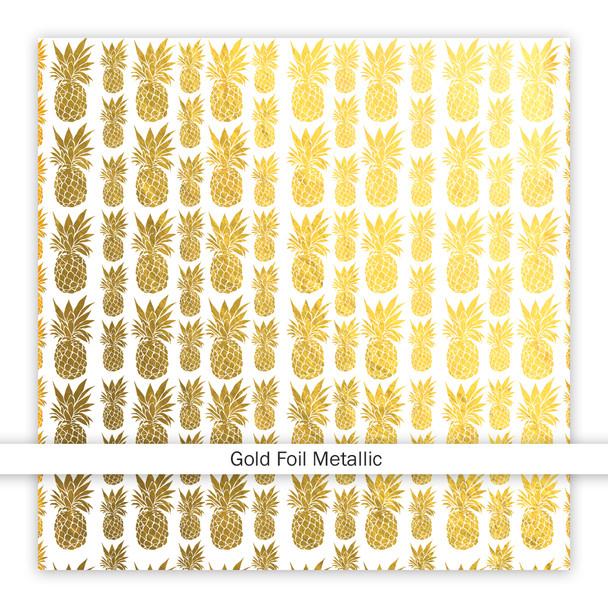 Metallic Clear | Pinapple Crush | Gold 8x8