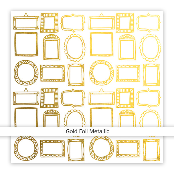 Metallic Clear | Family Fun | Gold 8x8