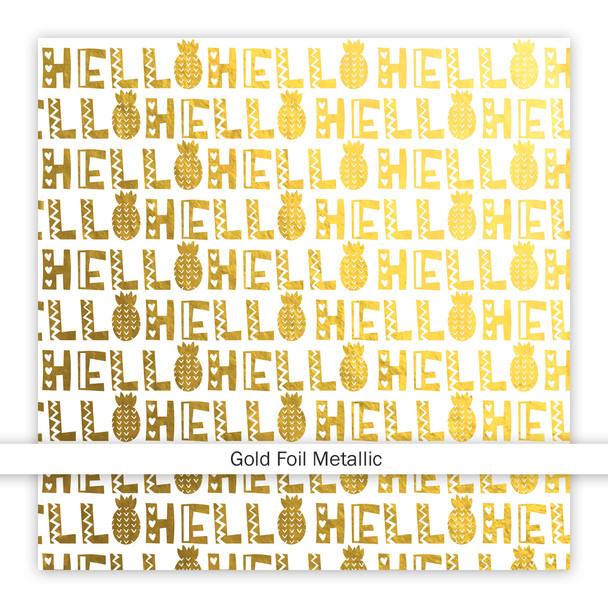 Metallic Vellum | Hello Summer | Gold 8x8