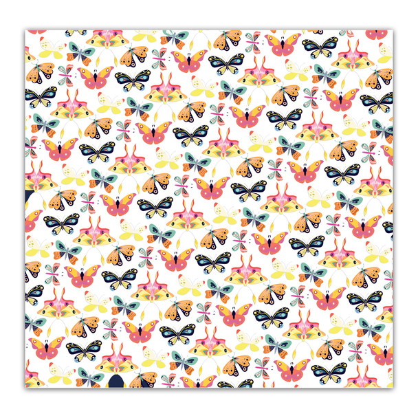 Vellum | Butterfly Wings - White 8x8
