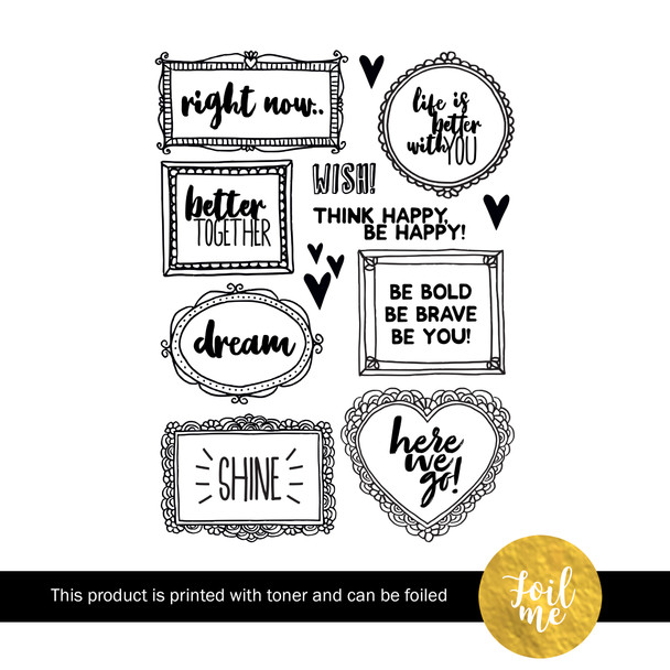 Die-Cuts | Be Bold (Foil Me)