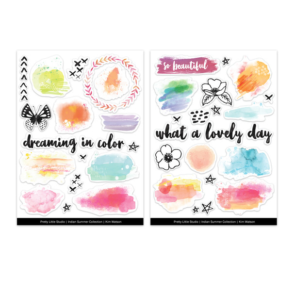 Stickers | Ink Wash | Clear (2 pk)