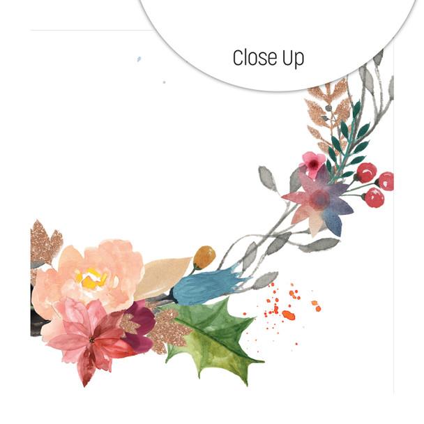Clear | Festive Wreath 8x8