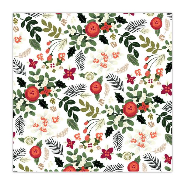 Paper | Under the Mistletoe | White 8x8