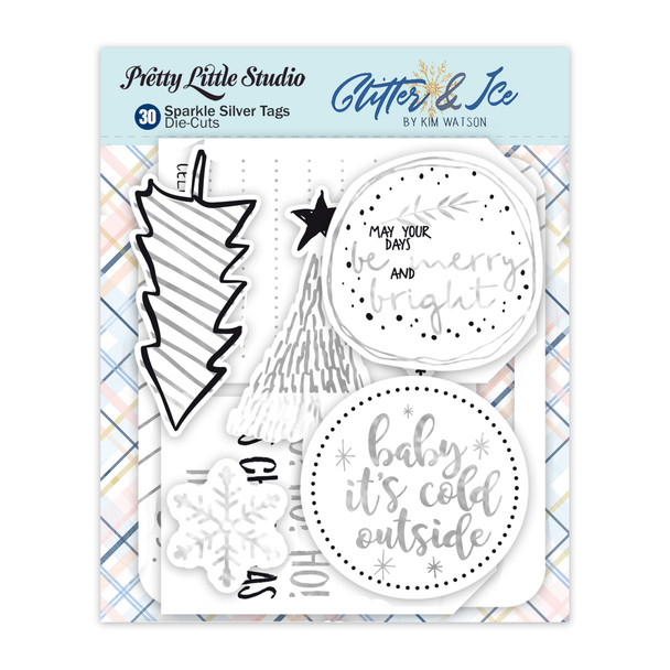 Die-Cuts | Sparkle Silver Tags