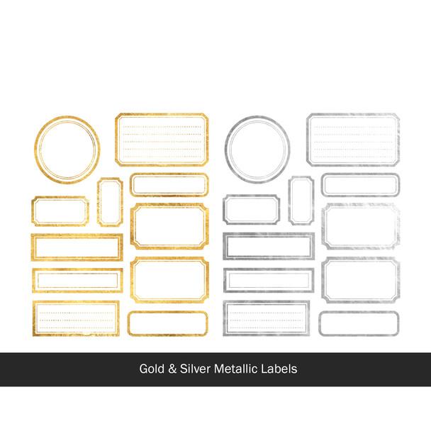 Die-Cuts | Merry Labels | Metallic