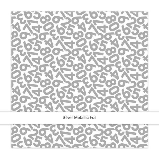 Metallic Paper   Countdown   Silver