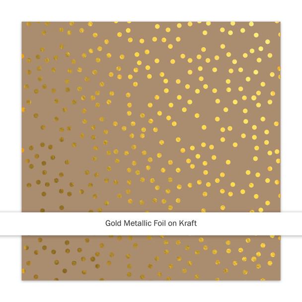 Metallic Kraft   Christmas Sprinkles   Gold