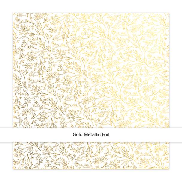Metallic Vellum   Fronds   Gold