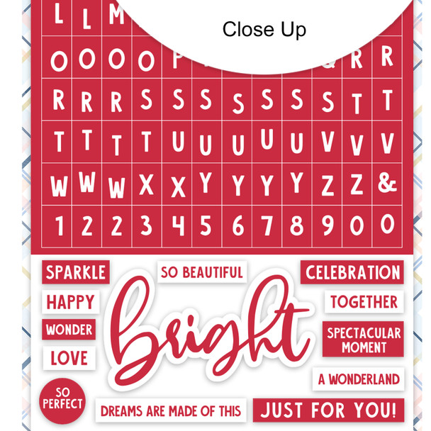 Stickers | Mini ABC | Bright Red