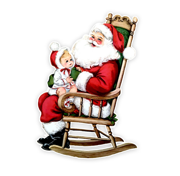 Vintage Die-Cut | Santa #30