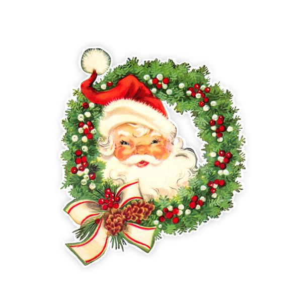 Vintage Die-Cut   Santa #27   6 inch