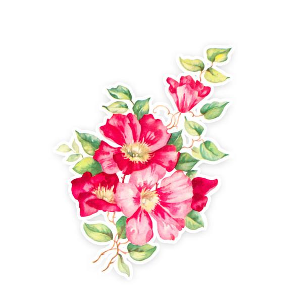 Vintage Die-Cut | Pink Clematis | 6 inch