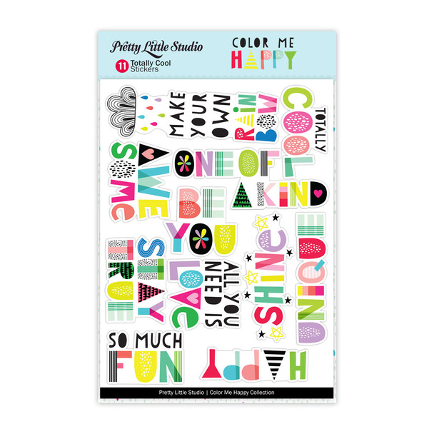 Stickers | Totally Cool Words | Clear