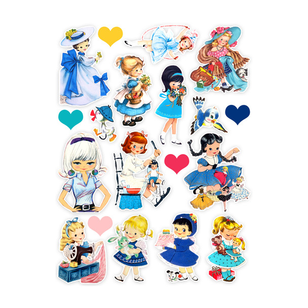 Die-Cuts   Blue Dress (pack)