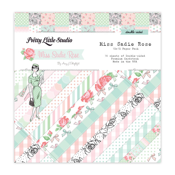 Paper Pack | Miss Sadie Rose 12x12 (double-sided)