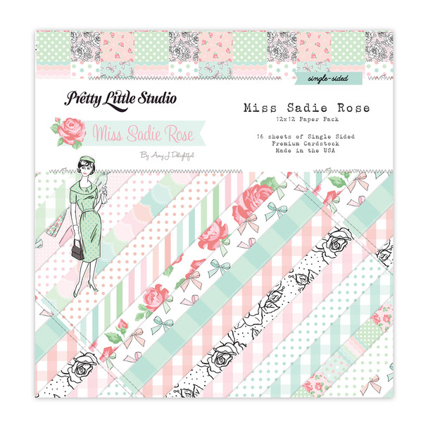 Paper Pack | Miss Sadie Rose 12x12 (single-sided)