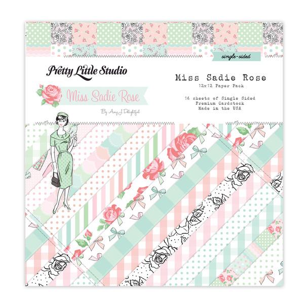 Paper Pack | Miss Sadie Rose 12x12 (single-sided)