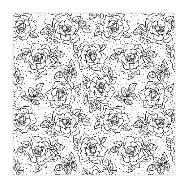 Paper | Rosebush | BW 12x12 (Single-Sided)