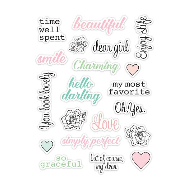 Die-cut   Charming Words