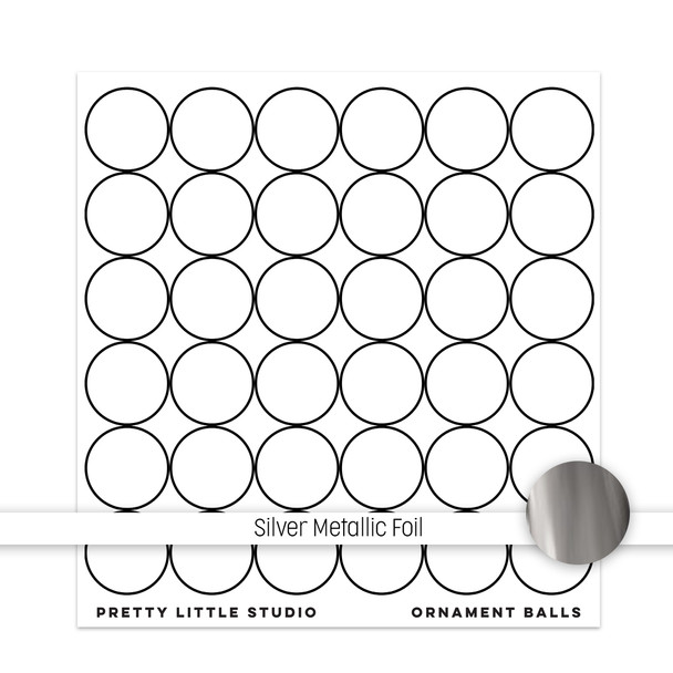 Metallic Clear | Ornament Balls 8x8