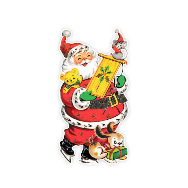 Vintage Die-Cut   Santa #31   6 inch