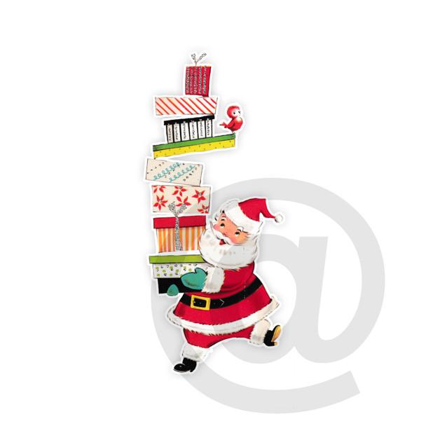 Vintage Die-Cut   Santa #32