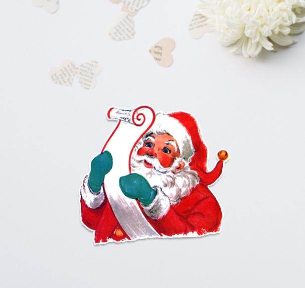 """Vintage Die-Cut   Santa #10   6"""""""
