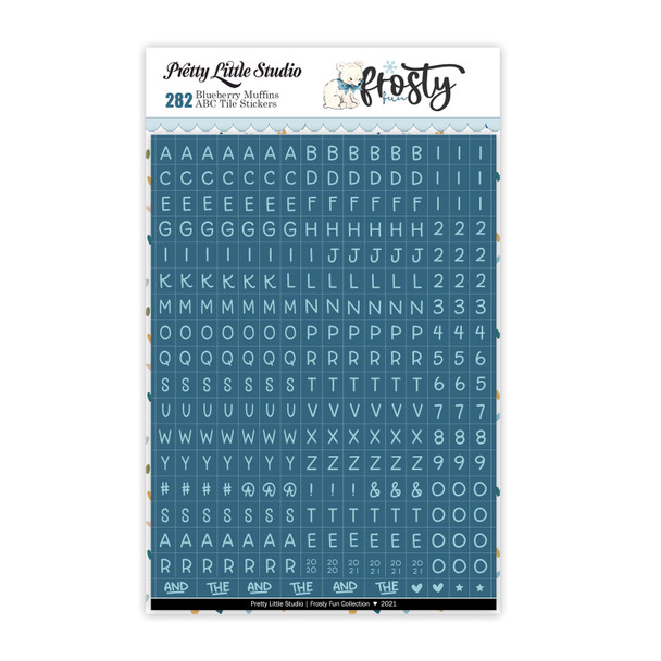 Cardstock Stickers   Mini ABC   Blueberry Muffins