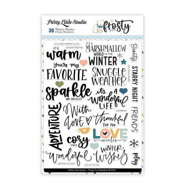 Stickers   Winter Wishes   Clear