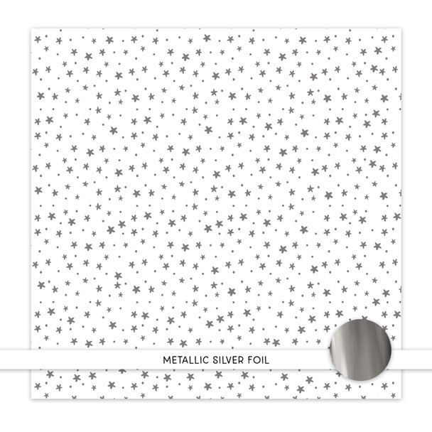 Metallic Clear | Sparkling Lights | Silver 8x8