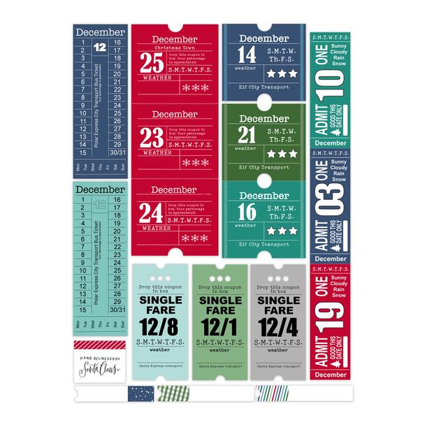 Die-Cuts   Polar Express Tickets