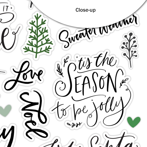Stickers | From Santa | Clear
