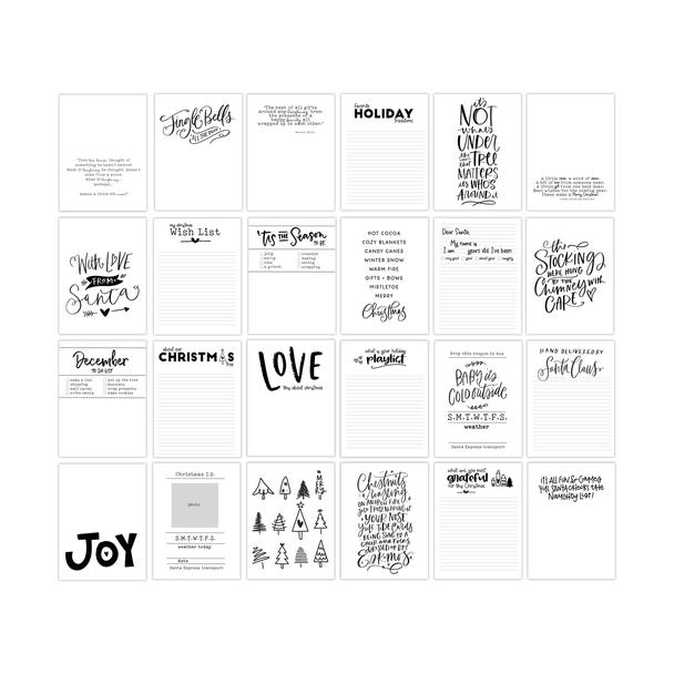 Journaling Cards | Jingle Bells 3x4
