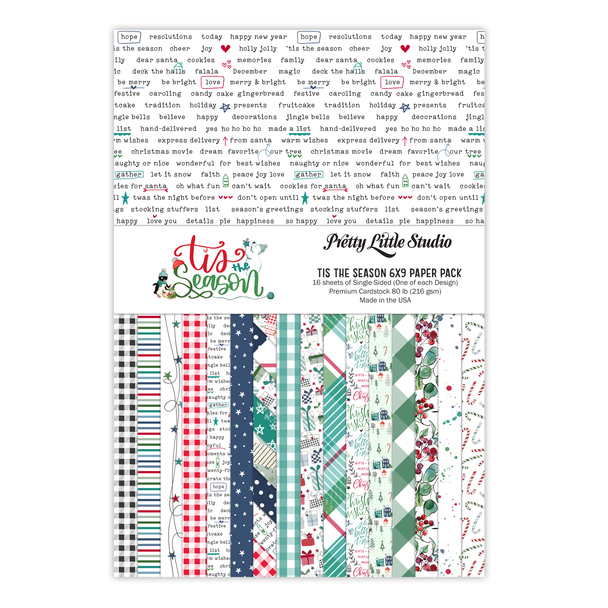 Paper Pack | Tis The Season 6x9 (single-sided)