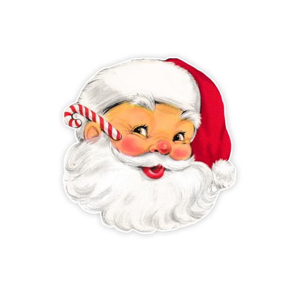 Vintage Die-Cut   Santa #35   7 1/2 inch