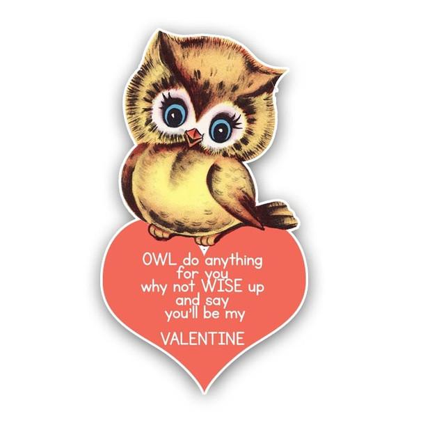 Vintage Die-Cut | Owl Love