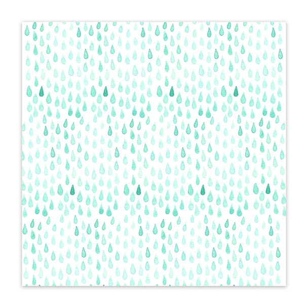 Vellum | Rain Drops 8x8