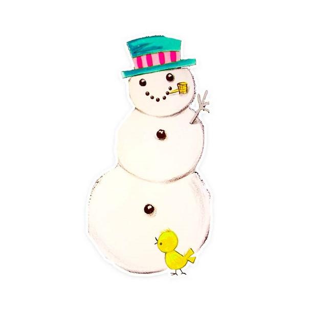 Vintage Die-Cut | Snowman #10