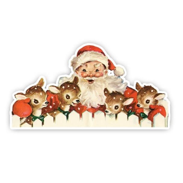 Vintage Die-cut   Santa #16