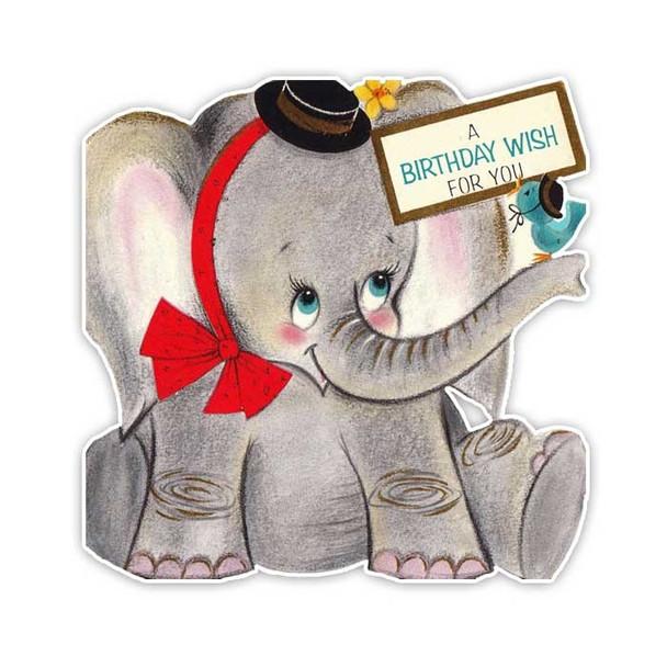 Vintage Diecut | Ellie Elephant