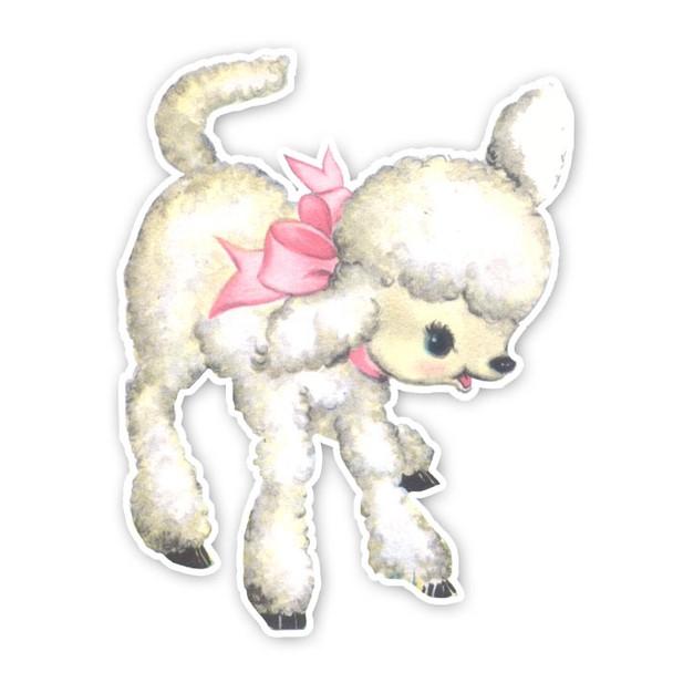 Vintage Die-cut   Lacey Lamb